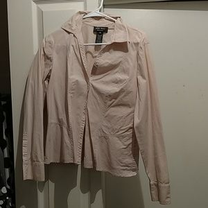 White and Pink Collared Shirt